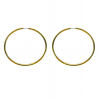 Gold coloured hoop earrings (Code 0943)